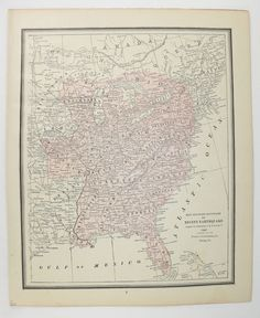 United States Map Colton Map Of United States Large Vintage - Antique us map