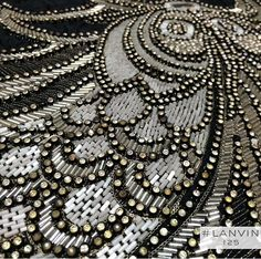 Vintage beaded lace. Lanvin