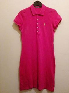 Ralph Lauren Dress Pink Size M (A) Pink Dress, Polo Shirt, Ralph Lauren, Mens Tops, Shirts, Ebay, Dresses, Fashion, Pink Sundress