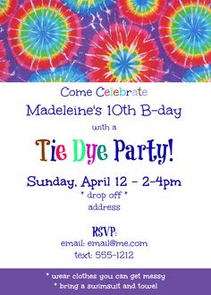 Rainbow Fun Tie Dye Party With Free Printables Ad Freetobe Need A