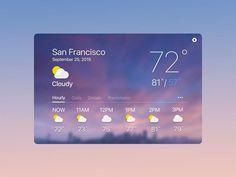 Weather Widget by Oliver Yang Web Design, Icon Design, Design Ideas, Weather Cards, Ui Website, Dashboard Design, Web Layout, Ui Inspiration, User Interface Design