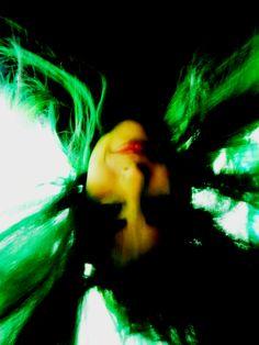 Cabelo Colorido/ Cabelo verde.