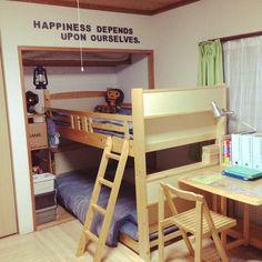 子供部屋/押入れ改造/和室改造/文字/カラーボード/ベッド周り…などのインテリア実例 - 2014-04-04 21:36:50 | RoomClip(ルームクリップ)