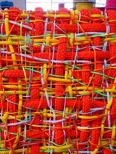 Dani Marti is a Spanish-Australian contemporary visual artist based between Glasgow, Scotland and Australia, working with video, sculpture, painting and installation. Paper Weaving, Weaving Textiles, Weaving Art, Tapestry Weaving, Hand Weaving, Fabric Manipulation Techniques, Textiles Techniques, Weaving Techniques, Textile Texture