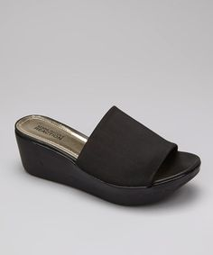 Take a look at this Black Pepe Step Platform Sandal by Kenneth Cole Reaction on #zulily today!