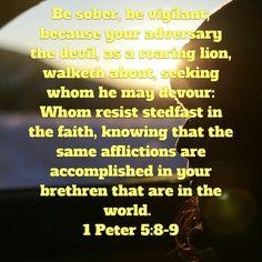 1 Peter 5:8-9.