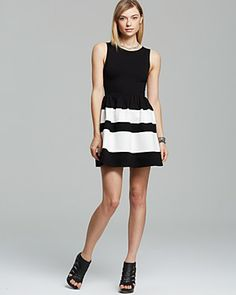 AQUA Dress - Striped | Bloomingdale's  -Just bought this for 8th grade graduation