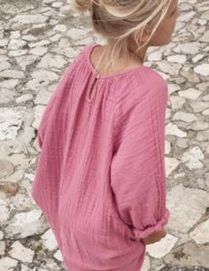 beautiful pink crepe dress for summer. #estella #kids #fashion #minimode