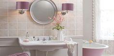 Love the dusky pink for a bathroom