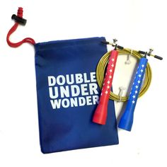 Wonder Woman jump rope from BarBella Box. Available in the shop.