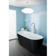 "Aquatica Lullaby Solid Surface 55"" x 24"" Freestanding Soaking Bathtub"