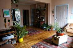 rambler style living room/entry & what you could do with this kind of space.