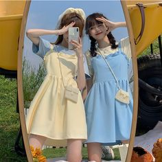 Ulzzang Fashion, Ulzzang Girl, Korean Fashion, Matching Outfits Best Friend, Best Friend Outfits, Kawaii Fashion, Cute Fashion, Petite Fashion, Girl Outfits