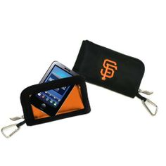 """MLB San Francisco Giants ID Wallet by Charm14. $11.89. The days of taking your phone out of your purse to answer a text or e-mail are over. With Charm14's new phone wallets, you can do all your texting without ever taking your phone out of the bag. Carabiner hook allows for easy attachment to a belt loop, or to hook on the outside of your purse or bag. Fits all touch-screen phones. Six 6.75""""H x 4""""W.. Save 30%!"""