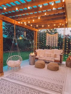 Backyard Patio Designs, Patio Ideas, Diy Patio, Pool Decor Ideas, Wood Patio, Landscaping Ideas, Backyard Makeover, Back Patio, Small Patio