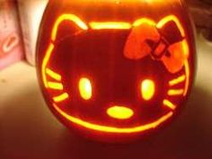 Cute Pumpkin Carving Ideas | Pumpkins.... Hello Kitty Style! Part 42