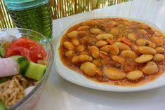 ΜΑΓΕΙΡΙΚΗ ΚΑΙ ΣΥΝΤΑΓΕΣ: Γίγαντες κατσαρόλας απίθανοι !!! Chana Masala, Beans, Vegetables, Ethnic Recipes, Food, Essen, Vegetable Recipes, Meals, Yemek