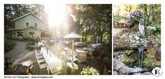 The wedding reception and wedding dining area at this Stonehedge Garden's Wedding
