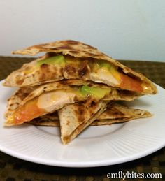 Emily Bites - Weight Watchers Friendly Recipes: California Club Quesadilla