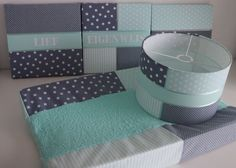 Mintgroene grijze babykamer set