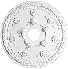 """Cherub 22 3/16"""" Ceiling Medallion With 4"""" Center Hole   House of Antique…"""