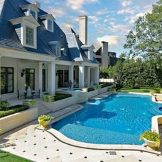 Why build a walkway to the pool?  Jump in from the back porch :)  Swimming Pool Design, Pictures, Remodel, Decor and Ideas - page 46