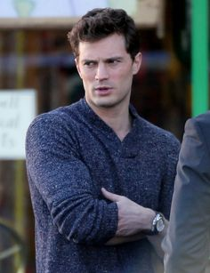 Jamie Dornan on set of Fifty Shades of Grey in Vancouver - 22 Jan 2014