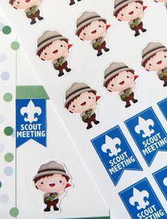 Boy Scout Stickers for Erin Condren Planner, Filofax, Plum Paper