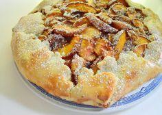 My Five Men Blog ~ rustic peach pie