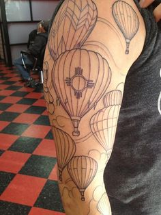 new mexico balloon fest tattoo. i will have a tattoo similar to this. nm will always be home.