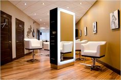 Salon Stations and Chairs