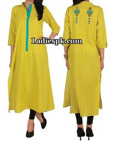 ego clothing pakistan yellow kurta kurtis eid collection 2013 Eid Kurta Collection 2013 For Girls, Women Kurtis Fashion
