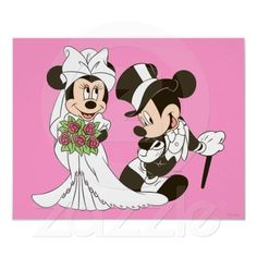 Mickey Mouse & Minnie Wedding Poster