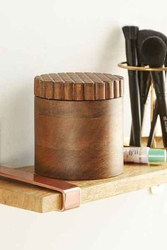 Magical Thinking Carved Wood Can - Urban Outfitters