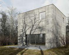 też architekci reveals plans for a concrete cube house in western poland