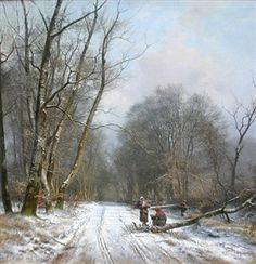 Winter Day in a Forest by Frederik Niels Martin Rohde