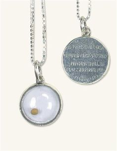 "MUSTARD SEED NECKLACE ""If you have faith as a grain of mustard seed... nothing shall be impossible unto you."" Matthew 17.20"