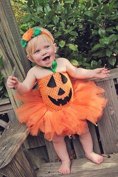 Baby Girls/Girls Pumpkin Costume Pumpkin Tutu Jack by SavvysBtq
