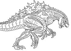Godzilla Chasing Enemy Coloring Pages Color Luna Coloring Pages Disney Coloring Pages Line Artwork