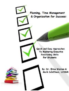 This 116 page publication is a comprehensive tool that helps students with time management, organization and planning.  It includes checklists, agendas, questionnaires, and advice in the areas of writing, reading, memory, math, motivation, setting priorities, test taking and more.  All these documents were created for Dr. Warren's own private practice as a learning specialist.  In addition, materials are applicable to elementary, middle school, high school and even college students.
