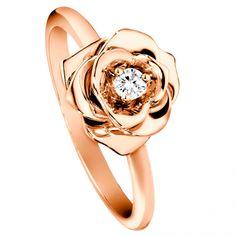 Jewelry Finder | 18K Rose Gold Diamond Piaget Rose Ring | Martha Stewart Weddings