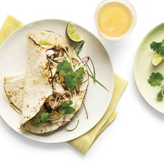 Chili powder brings a hint of smoky flavor to a taco made with grilled red snapper and a mix of vegetables.