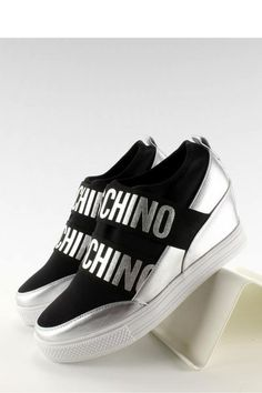Wedge heel women sneakers with a run way fashion style.