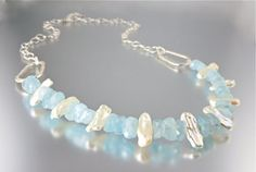 Aquamarine Breeze Necklace by Camla