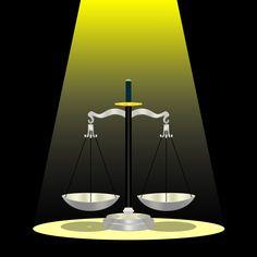 ini seharusnya adalah timbangan keadilan, namun perhatikan salh satu timbangannya berlubang/bocor.