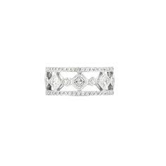Platinum and Diamond Band Ring, Fred Leighton