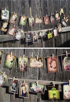 Clothespin pic display