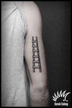 Ladder tattoo by Barak Sabag kipodd@gmail.com Philosophy Tattoos, I Tattoo, Tattoo Quotes, Tatting, Body Art, Ink, Ladders, Tattoo Ideas, Modern