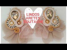 Shibori, Tutorial Soutache, Diy Jewelry, Handmade Jewelry, Textiles Techniques, Soutache Earrings, Simple Art, Diy Crafts, Make It Yourself