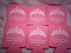 party like a princess  #Bachelorettekoozies #CustomKoozies #Weddinginspiration #Odysseycustomdesigns